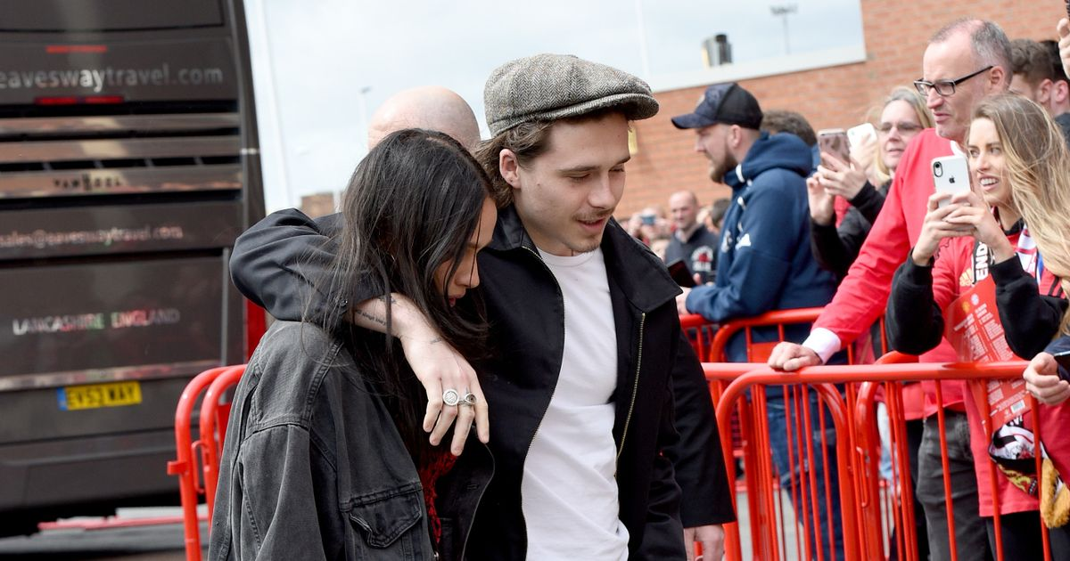 Brooklyn Beckham and Hana Cross are all smiles hours after explosive argument