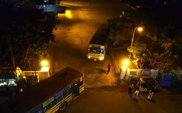 The night-time travails of a bus terminus