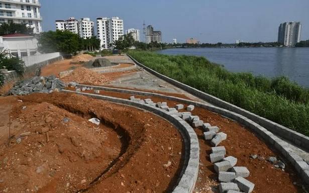 'Despite stop memos, work on park near lake continuing'