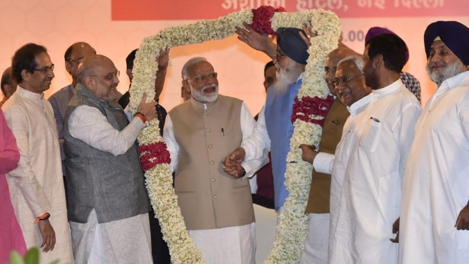 Lok Sabha elections 2019: At NDA meeting, PM Modi expresses concern over 'needless controversy' on EVMs