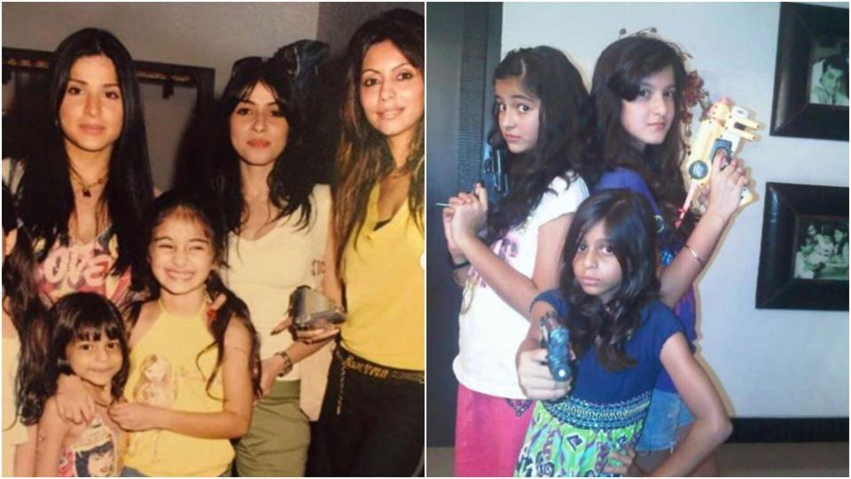 On Shah Rukh Khan's daughter Suhana Khan's birthday, besties Ananya, Shanaya wish her with throwback pics