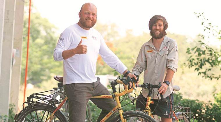 Race to Rugby World Cup: Duo cycles from London to Tokyo, says Chandigarh best city in Asia for cycling