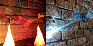 You Absolutely Need This 'Game of Thrones'–Inspired Fire-Breathing Dragon Lamp From Etsy