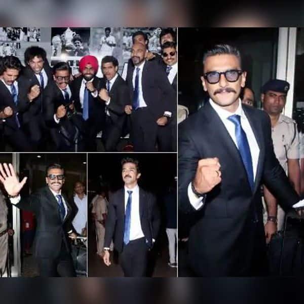 रणवीर सिंह और उनकी टीम 83 की शूटिंग के लिए लंदन हुई रवाना, एयरपोर्ट पर सभी सूट बूट में आए नजर, देखें वीडियो | Bollywood Life हिंदी
