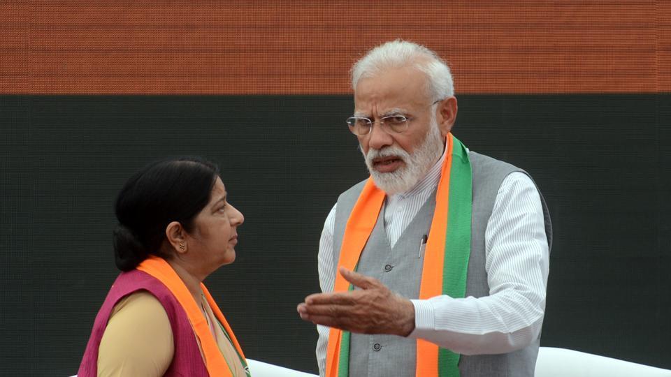 Sushma Swaraj congratulates PM Narendra Modi on 'big win' in Lok Sabha elections