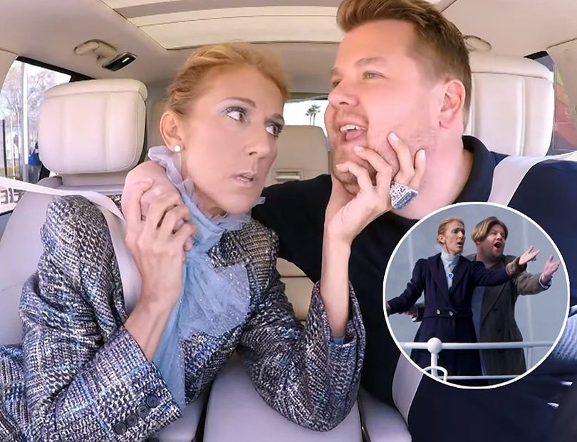 Celine Dion Carpool Karaoke Features Shoe Collection Intervention and Incredible 'Titanic' Tribute
