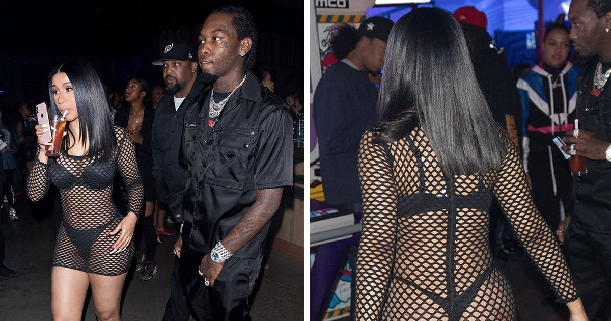 Cardi B and Offset Party with Takeoff on His 25th Birthday
