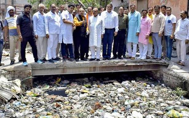 City drains not yet desilted: BJP MLAs