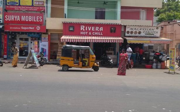 No shelter in sight at Vanuvampet bus stop