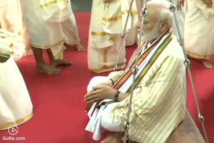 Modi's 'Thulabaram' ceremony