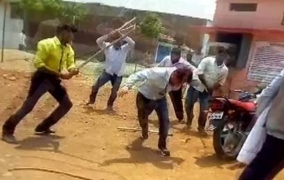 Another BJP leader assaults government official in M.P.