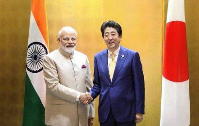 Narendra Modi, Shinzo Abe discuss economy, bullet train