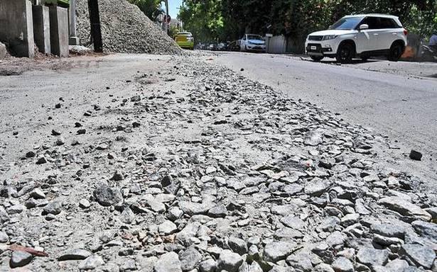 Civic body begins repairing damaged roads in R.S. Puram