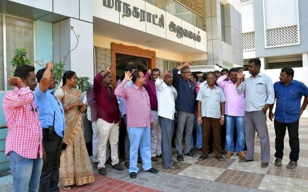 Corporation staff irked over delayed disbursal of salary