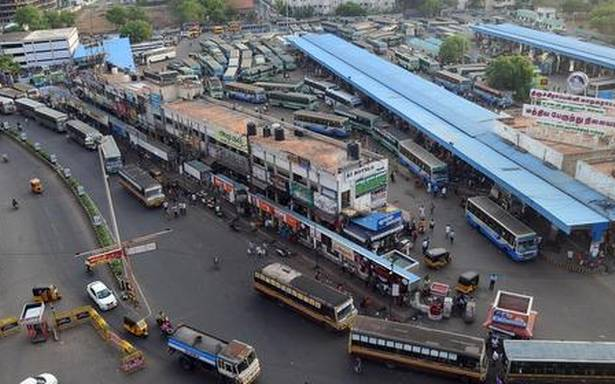 Integrated bus stand seems a distant dream