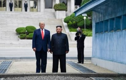U.S. President Donald Trump steps into North Korea, in a historic first