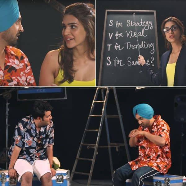 #ArjunPatiala: Kriti Sanon turns 'marketing' professor for Diljit Dosanjh and Varun Sharma – watch video | Bollywood Life
