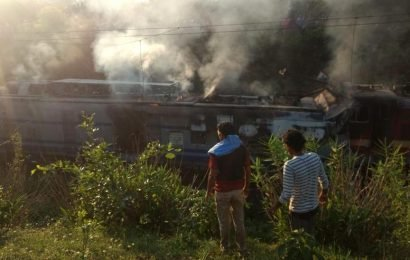 Three railway officials killed as train rams maintenance engine in Odisha