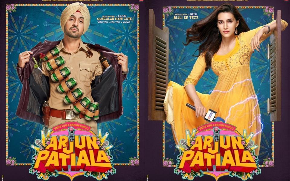 Arjun Patiala posters: Diljit Dosanjh turns cute cop, Kriti Sanon is a sharp reporter. See pics