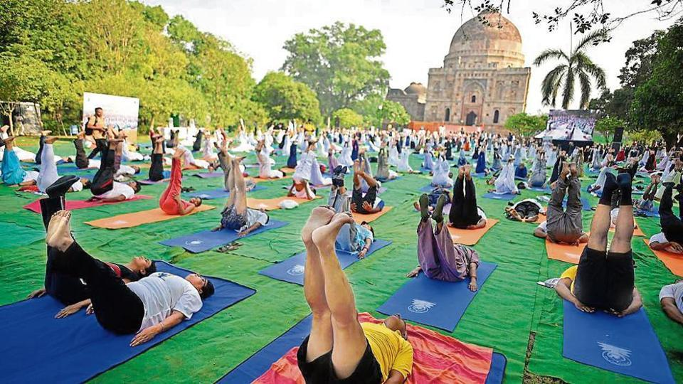 With mats and asanas, Delhi keeps its date with yoga day