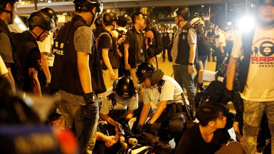 Peaceful protests in Hong Kong against Chinese extradition end in violence
