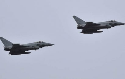 Two Eurofighters crash over eastern Germany, pilots eject