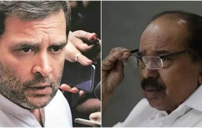 Not even 1% possibility of Rahul Gandhi continuing as Congress chief: Veerappa Moily