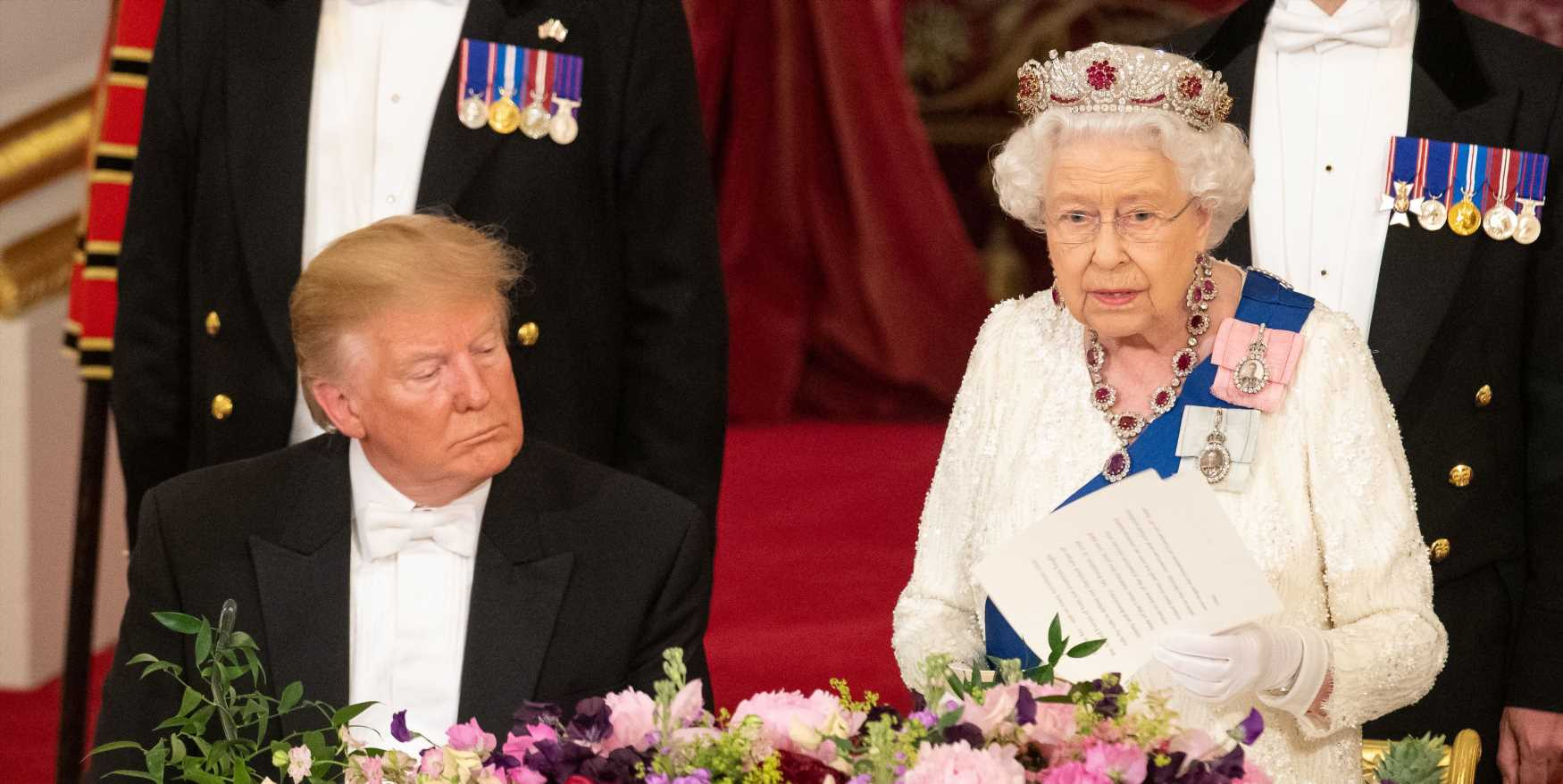 Er, People Think Trump Fell Asleep During the Queen's Speech…and There's a Video