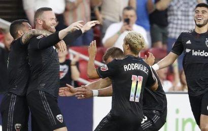 Wayne Rooney scores sensational strike from own half – watch video