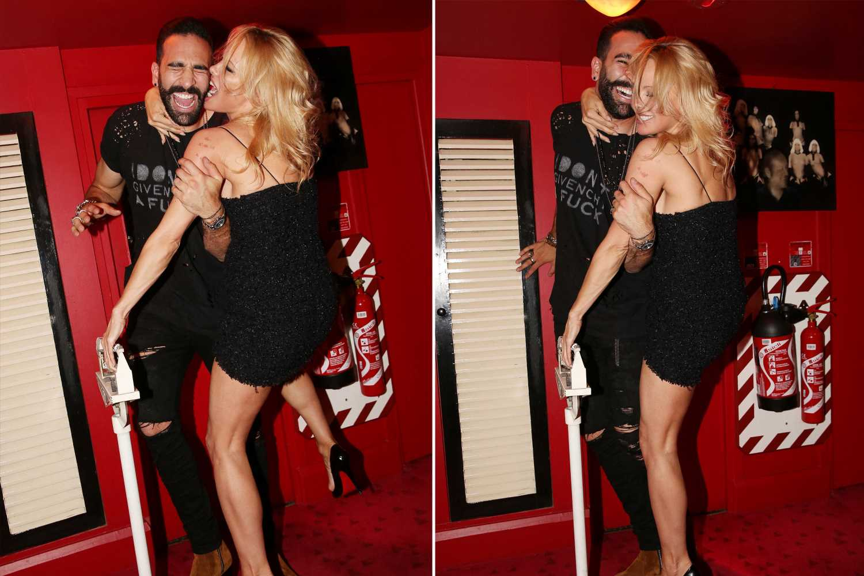 Pamela Anderson gets flirty with boyfriend Adil Rami
