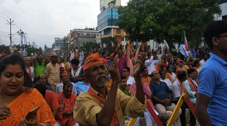 'No space for Congress, Left': BJP supporters at party's victory rally in Tripura
