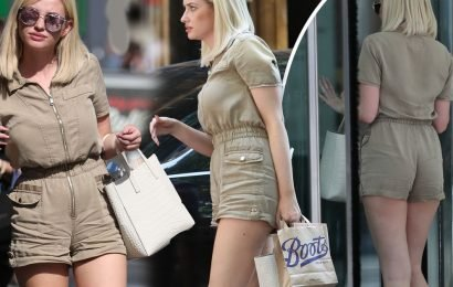 Love Island's Amy Hart put on a brave face in London as ex Curtis Pritchards' relationship heats up with Maura Higgins