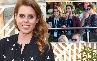 Princess Beatrice and Princess Eugenie lead the stars partying at Celine Dion's concert