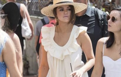 Selena Gomez Looks Divine on Vacation in a Maxi Dress and Straw Hat