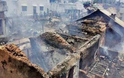 26 houses gutted at Pogiri, six LPG cylinders go off