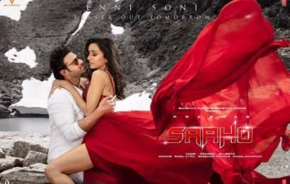 Prabhas announces second song Enni Soni from Saaho with a mesmerising poster   Bollywood Life