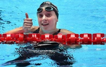 Swimming   Hat-trick of golds for Dressel