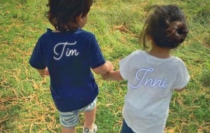 Taimur Ali Khan and Inaaya Naumi Kemmu walking hand-in-hand in the park is a sight too cute to be missed   Bollywood Life