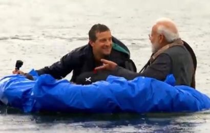 With a raft and a spear, see the unseen side of PM Modi