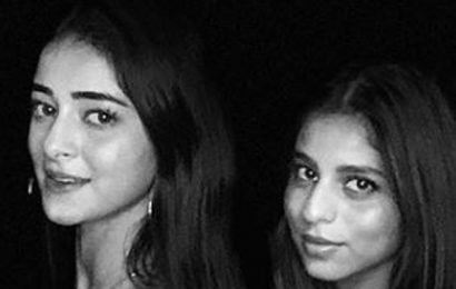 Suhana Khan dances with bestie Ananya Panday, hides her face from the camera. Watch video