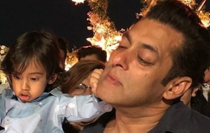 Salman Khan plays with nephews Ahil and Yohan, shares video of their 'bean bag moment'. Watch