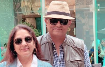 Neena Gupta meets Gajraj Rao in London, tells him 'jahan main jaati hu wahi chale aate ho', see pics