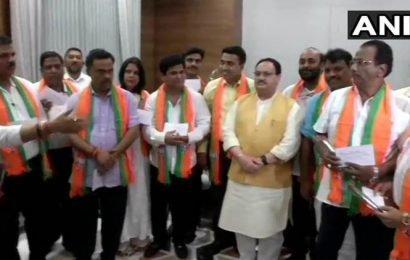 Goa meltdown: 10 ex-Congress MLAs join BJP in presence of Nadda