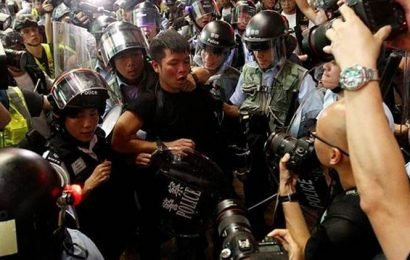 A march in Hong Kong devolves into violence