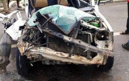 Car rams LPG tanker, four injured