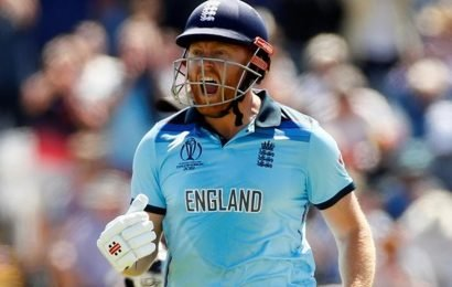 ICCWorld Cup 2019:Jonny Bairstow, Mark Wood guide England to semis with 119-run win over New Zealand