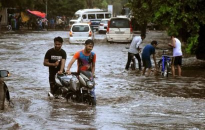 Rivers and creeks in full flow as  heavy rain lashes South Gujarat
