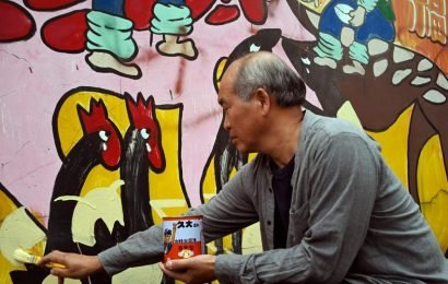 Taiwanese 'graffiti village' eases elderly loneliness