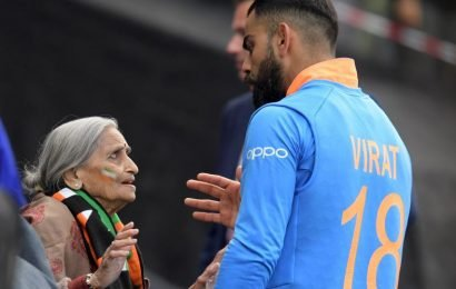 India vs Bangladesh, ICC World Cup 2019: Virat Kohli meets 87-year-old 'most passionate' fan; takes her blessings – See pictures