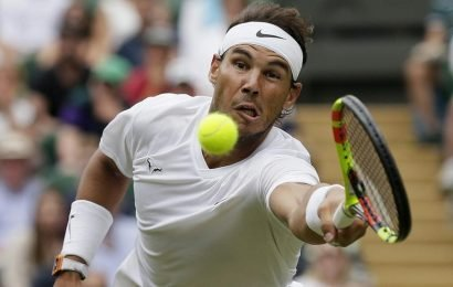 Dominant Rafael Nadal brushes aside Jo-Wilfried Tsonga at Wimbledon
